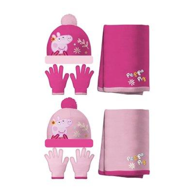Set gorro bufanda guantes Peppa Pig Happy