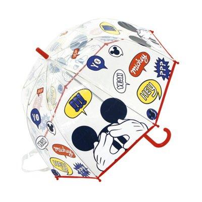 Paraguas cúpula transparente manual Mickey 48cm - rojo