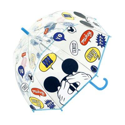 Paraguas cúpula transparente manual Mickey 48cm - azul