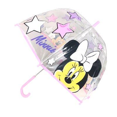 Paraguas cúpula transparente manual Minnie Mouse 48cm - rosa