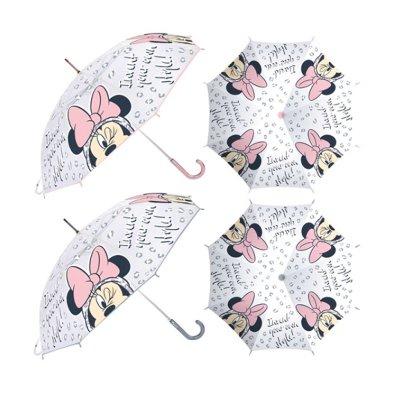 Paraguas semitransparente manual Minnie 46cm