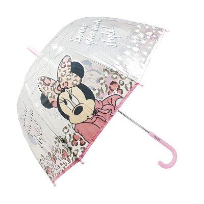 Paraguas transparente manual Minnie Mouse Style 48cm - rosa