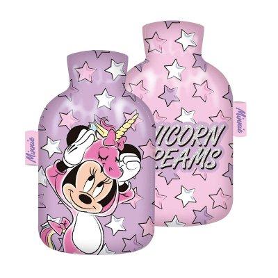 Botella c/funda agua caliente Minnie Unicornio