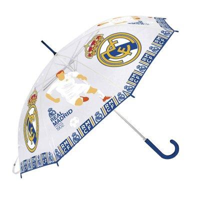 Paraguas transparente automático Real Madrid 55cm