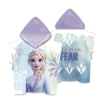 Poncho toalla con capucha microfibra Frozen 2 Ana