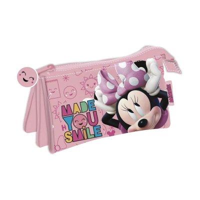 Wholesaler of Estuche triple Minnie Mouse 22x12cm