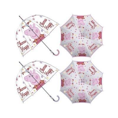 Paraguas manual transparente Peppa Pig 48cm