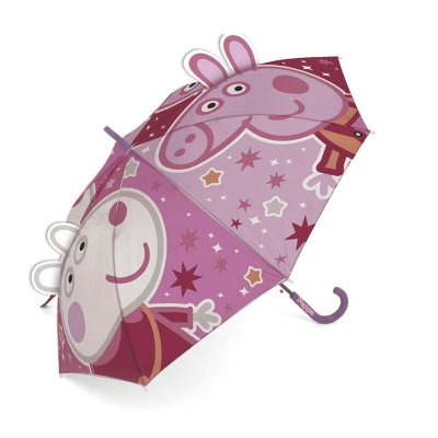 Paraguas 3D manual infantil Peppa Pig 48cm