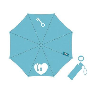 Wholesaler of Paraguas plegable manual Heart - azul