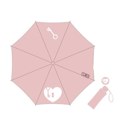 Wholesaler of Paraguas plegable manual Heart - rosa