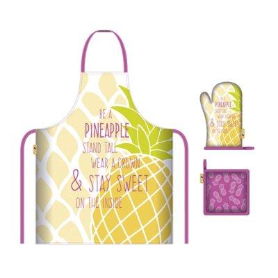 Wholesaler of Conjunto delantal y guante cocina Piña