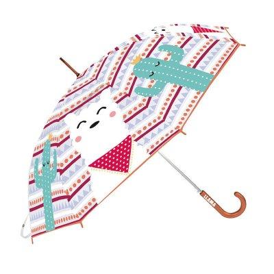 Paraguas transparente manual Llama 48cm