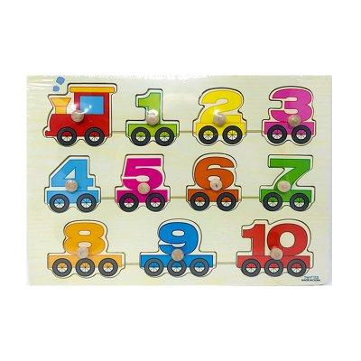 Puzzle madera encajable tren de números 11pzs
