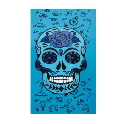 Toalla microfibra Calavera 70x140cm - azul