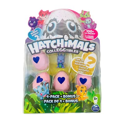 Pack 4 Huevos y 1 Figura Hatchimals Colleggtibles serie 2