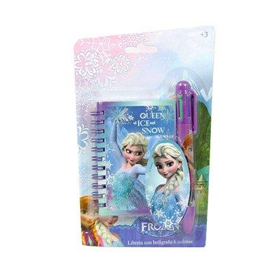 Wholesaler of Frozen spiral notebook + 6 colours pen