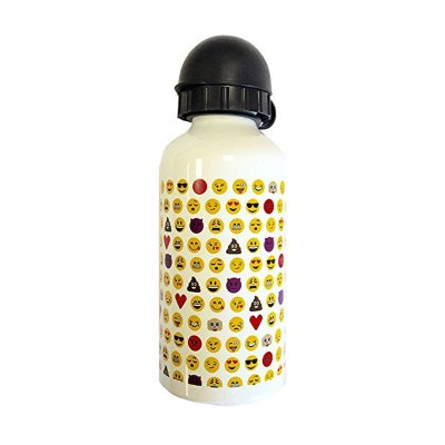 Botella aluminio 350ml Emoji - blanco