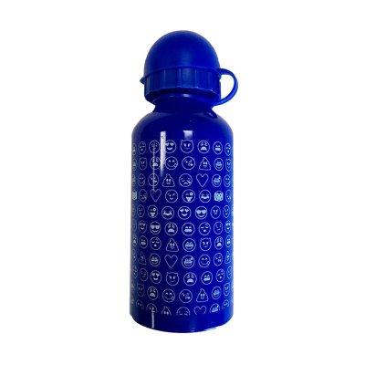 Botella aluminio 350ml Emoji - azul