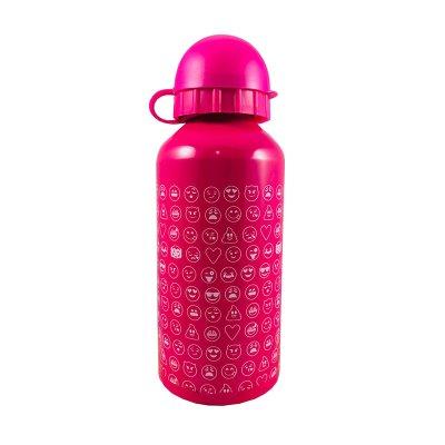 Botella aluminio 350ml Emoji - rosa