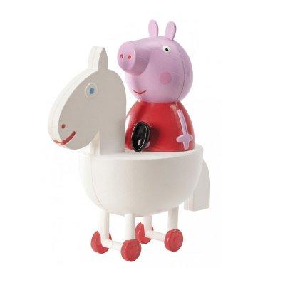 Figura Peppa Pig con caballo