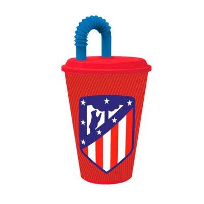 Vaso con caña 430ml Atlético de Madrid
