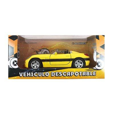 Miniatura coche descapotable GT-0136 - modelo amarillo