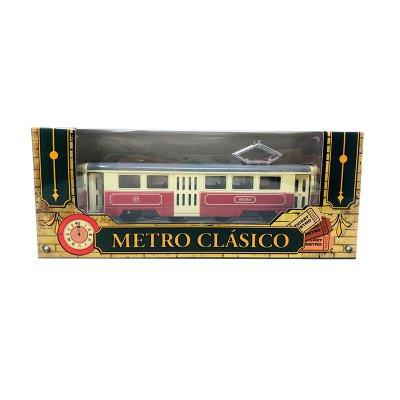 Miniatura vehículo metro clásico GT-8026 - rojo
