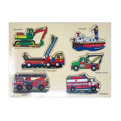 Wholesaler of Puzzle madera encajable vehículos de rescate 6pzs