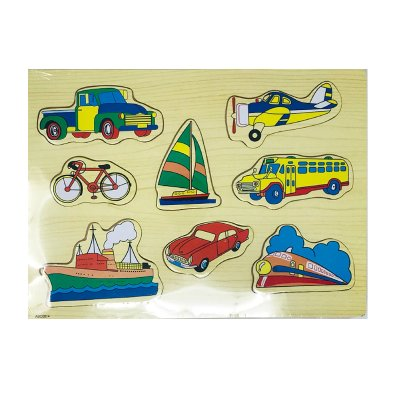 Wholesaler of Puzzle madera encajable vehículos 8pzs