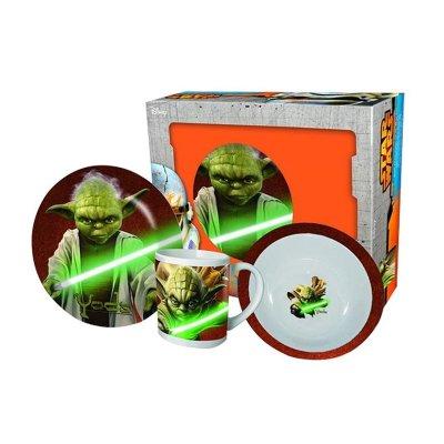 Set desayuno 3 piezas cerámica Yoda Star Wars