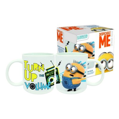 Minions Turn Up The Volume ceramic mug 320ml 11oz