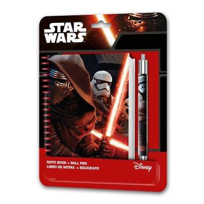 Set de libreta de espiral y bolígrafo Star Wars Episodio VII