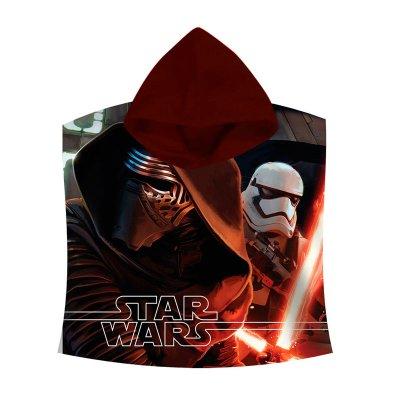 Poncho con capucha toalla microfibra Star Wars