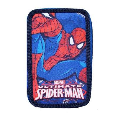 Estuche relleno 2 cremalleras Spiderman