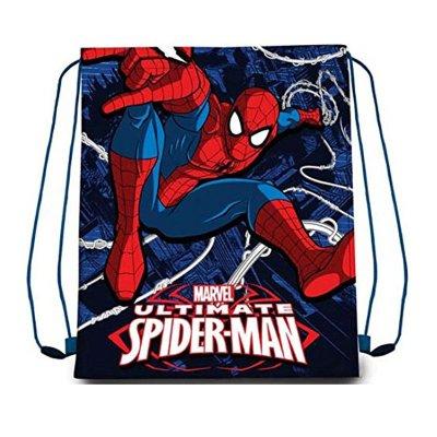 Saco pequeño Spiderman 40cm - azul