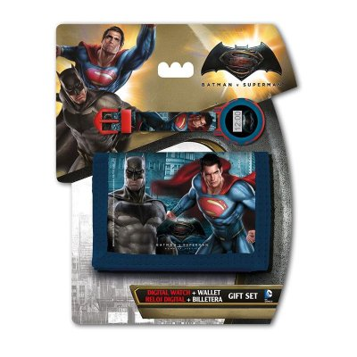 Set reloj digital y billetera de Batman vs Superman