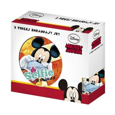 Set desayuno 3 piezas cerámica Mickey