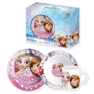 Set desayuno 3 piezas cerámica Frozen Elsa Anna