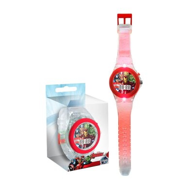 Reloj digital Los Vengadores c/LED