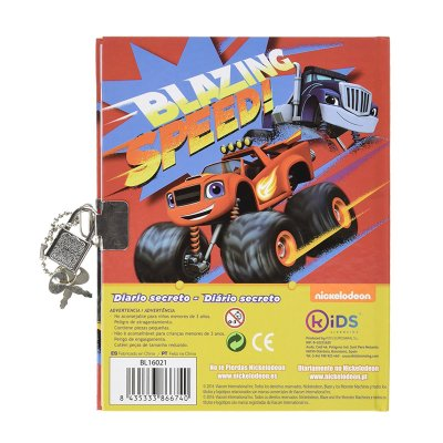 Wholesaler of Diario con candado Blaze and the Monster Machines