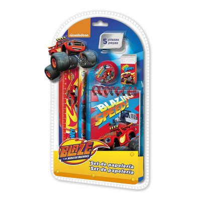 Set de papelería 5 piezas Blaze and the Monster Machines
