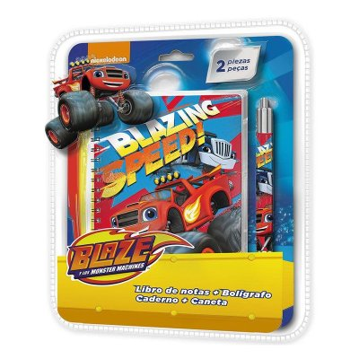 Blaze and the Monster Machines spiral notebook + pen