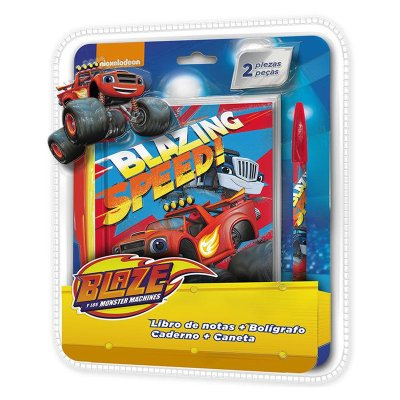 Blaze and the Monster Machines notebook + pen