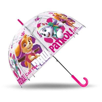Paraguas transparente manual Paw Patrol Skye 48cm