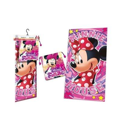 Toalla microfibra c/saco Minnie Mouse