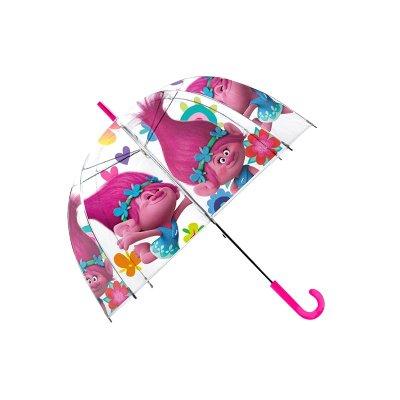 """Paraguas transparente burbuja Trolls Poppy 48cm 19"""""""