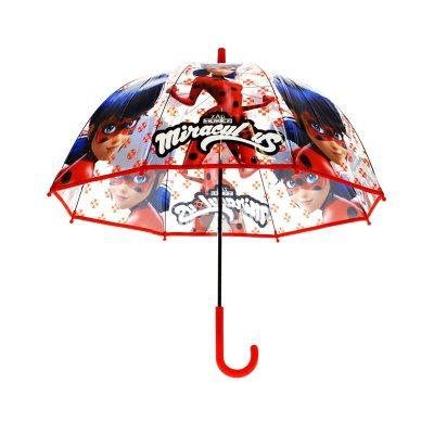 Paraguas automático transparente Ladybug