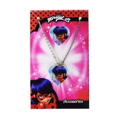 Set 2 accesorios collar anillo Ladybug Miraculous