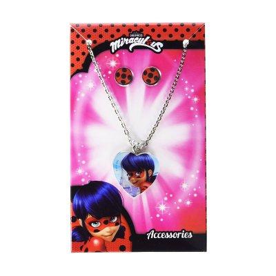 Set 2 accesorios collar pendientes Ladybug