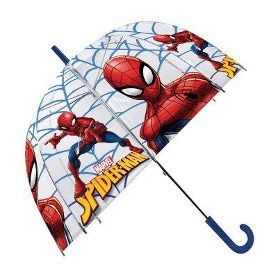 """Paraguas transparente manual Spiderman 48cm 19"""""""